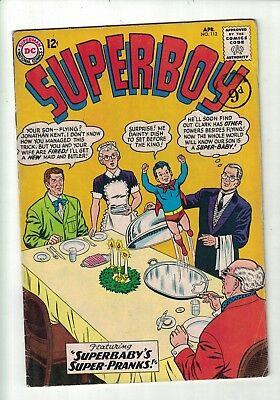 DC Superboy comic No 112 April 1964  12c USA