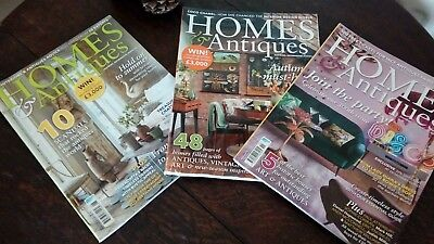 3 x Homes & Antiques Magazines, Issue 298 (September ?), October & November 2017