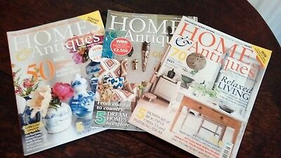 3 x Homes & Antiques Magazines, Summer 2017, July & August 2017
