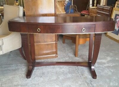 Lovely  Art Deco Style Console Hall Table in Mahogany