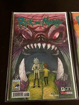 Rick and Morty comic #1 SDCC first print 2015 Exclusive: San Diego Comic Con