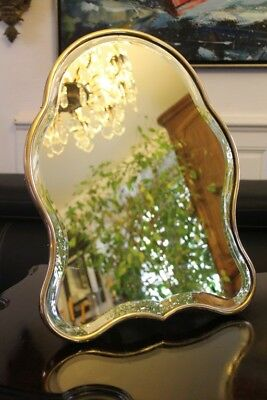 Mirror table table or to hang shape violonnee bronze 19e mirror
