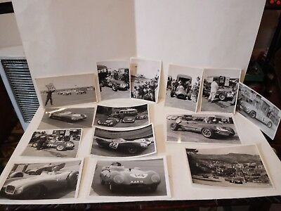 14 Vintage Original B/W Racing Car Photographs,Lotus etc,Great Condition!