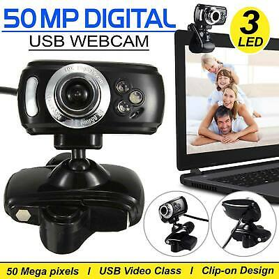 USB Clip-on Webcam Camera HD 50.0 MP Megapixels with Microphone MIC for Computer