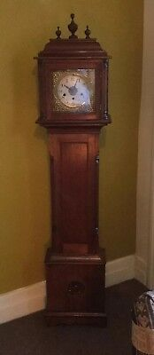 Very Pretty Mahogany Cased Westminster And Whittington Chime 9 Hammer  Clock.