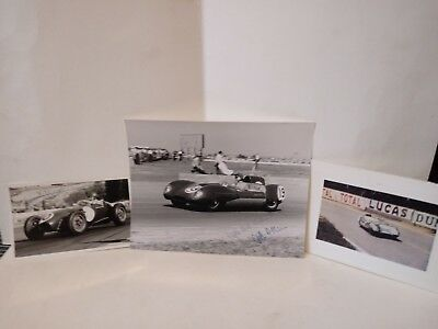 2 Cliff Allison Vintage Original B/W Racing Car Signed Photos & A Colour One!