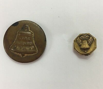 New York Telephone Company Pin Employee Service Pin and Button Antique One Star