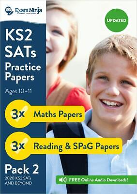 2019 KS2 SATs Revision Books - Practice Papers [ PACK 2 ] Maths, English & SPaG