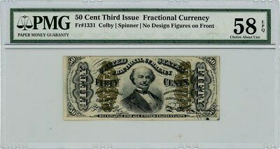 Fr. 1331 Fifty Cent 50c 3rd Issue Fractional Currency Ch AU58 EPQ PMG
