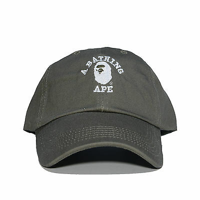 """A BATHING APE"" Embroidered Dad Hat (BAPE HEAD supreme AAPE unsturctured COLORS)"