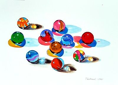 Wayne Thiebaud - Ink and pastel drawing (Picasso era) - Pop art