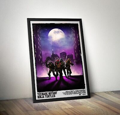 A0 A1 A2 A3 A4 Teenage Mutant Ninja Turtles Original Vintage CANVAS Art Print