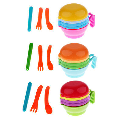 9Pcs Manual Baby Food Supplement Fruit Bowl and Pestle Grinding Tools Set