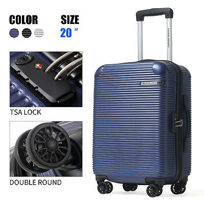 """Honcardo 20"""" Luggage New Expandable ABS Spinner TSA Travel Suitcase Carry On Bag"""