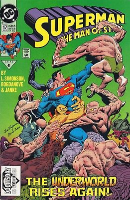 Superman The Man Of Steel 17  High Grade Copy   1St Doomsday   No Reserve!