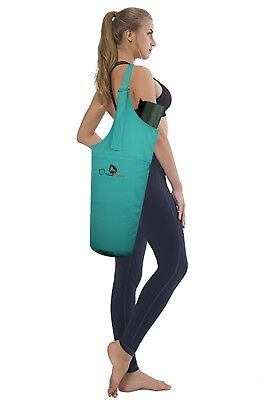 Yoga Mat Bag, Carrier, Adjustable Strap, Fits Mat & Blocks, Pilates, Gym, Sports