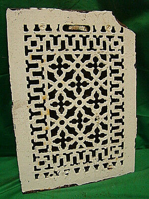 ANTIQUE LATE 1800'S CAST IRON HEATING GRATE ORNATE DESIGN 13.75 x 9.75 JFY