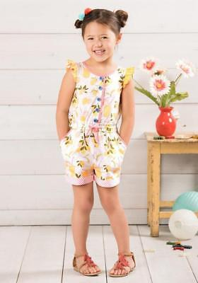 NWOT Matilda Jane LET'S MAKE LEMONADE ROMPER 4 Girl's One Piece Adventure Begins