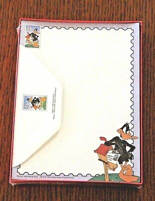 Vintage Stationery Write Time Warner Brothers USPS Daffy Duck © 1999 NEW NIB