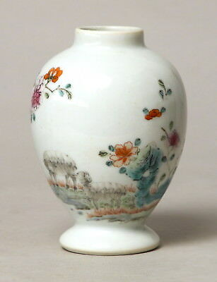 Very Unusual Antique 18Thc Qianlong Period Chinese Porcelain Tea Caddy Vase #2