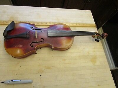 ANTIQUE  4/4 Violin with 1902  M & W Case &  Unmarked Bow, Germany Stainer