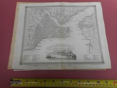 100% Original Constantinople Istanbul Plan Map By Orr/dower C1828 Vgc Low Start
