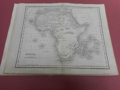 100% Original Africa Map By Orr/dower  C1828 Vgc Low Start