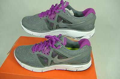 New Womens 9.5 NIKE Lunar Glide 3 Breathe Gray Purple Run Shoes $110 510802-016