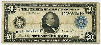 Fr. 995 $20 1914 Federal Reserve Note St. Louis Fine