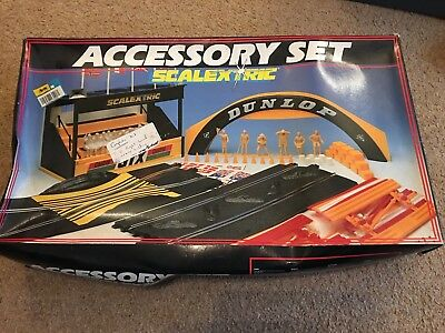 SCALEXTRIC ACCESSORY SET Racing Slot Car UnUSED With Manufacturing Error