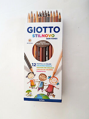 GIOTTO STILNOVO skin tones 12  Buntstifte feste Mine 3,3mm