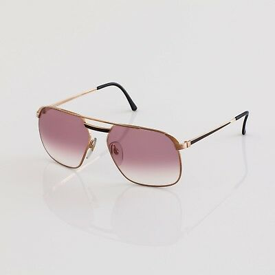dd9ed0d10e New Vintage Dunhill 6011 Sunglasses Aviator C. 49 Gold With Black Detailing  62mm