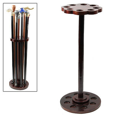 Solid Wood Holder of Charm Cane Walking Stick Umbrella Pool Que Stick Stand