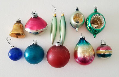 Lot of Vintage Christmas Ornaments USA Colombia Poland Shiny Brite & More