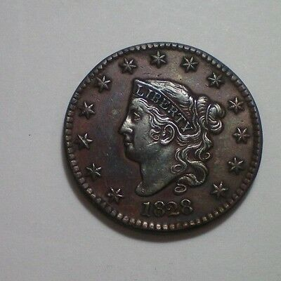 1828 Large Cent Xf Detail