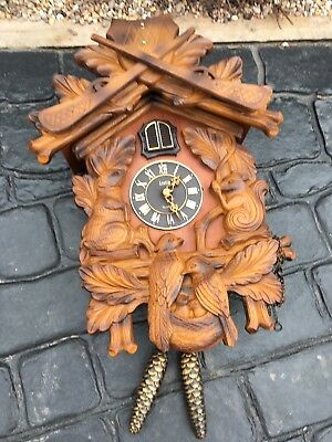 House Clearance Attic Find Classic Look Battery Hunting cuckoo clock spares