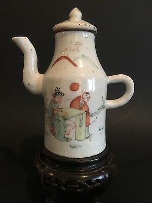 Small Beautiful Antique Chinese 19Th-Century Porcelain Wine Pot