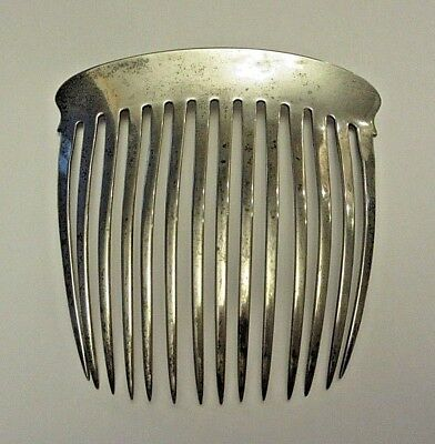 Antique Sterling Silver Hair Comb 2.3 oz