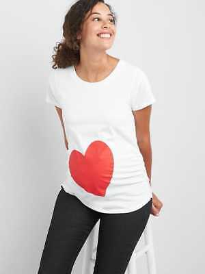 GAP Maternity graphic short sleeve tunic tee with HEART, size M, so cute, NWT
