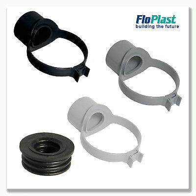 FLOPLAST 110mm SOIL PIPE STRAP BOSS INC 32,40 or 50mm RUBBER ADAPTER | 3 COLOURS