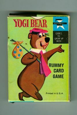 Rare Vintage 1961 YOGI BEAR Rummy Card Game in Original Box! Ed-U-Cards!