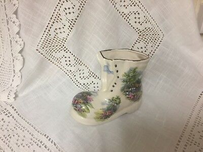 Royal Vale Country Thatched  Cottage China Boot