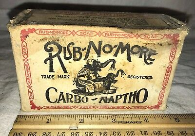 Antique Full Box Rub No More Carbo Naptho Laundry Soap Elephant Fort Wayne In