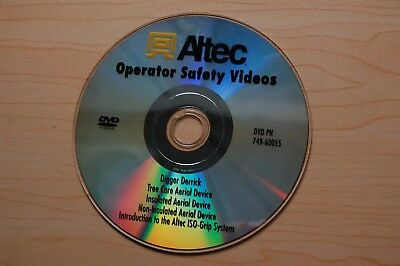 ALTEC DIGGER DERRICK AERIAL DEVICE Operator Basic Operating Safety Manual DVD
