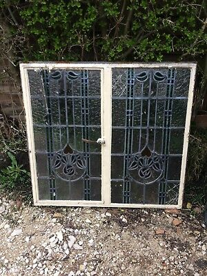 Metal Framed Stained Glass Window - Damaged