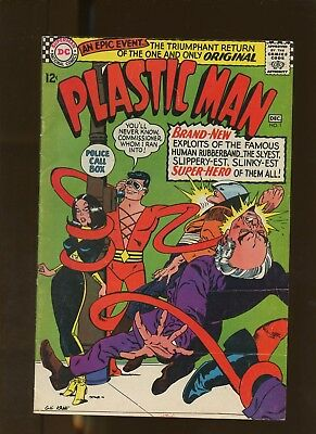 Plastic Man 1 FN+ 6.5 * 1 Book Lot * Dirty Devices of Dr. Dome! Gil Kane!