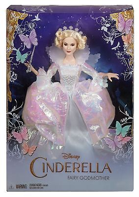 """Disney Princess Cinderella Official Movie Fairy Godmother Deluxe 12"""" Doll"""
