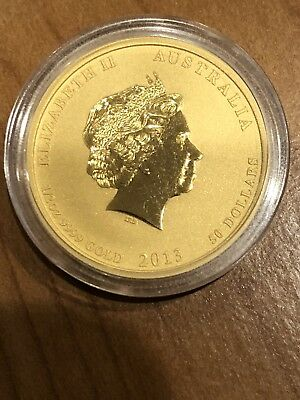 2013-P $50 Australia Year of the Snake 1/2 oz. .999 Gold Coin Fine Pure Gold UNC