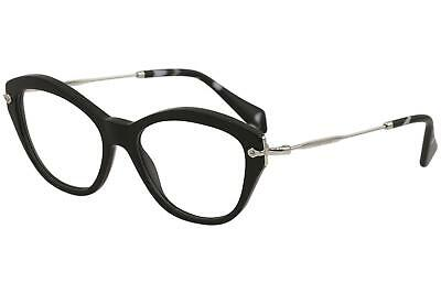896a4cd0ff7a Miu Miu Women s Eyeglasses VMU02O VMU 02O 1AB 1O1 Black Optical Frame 54mm