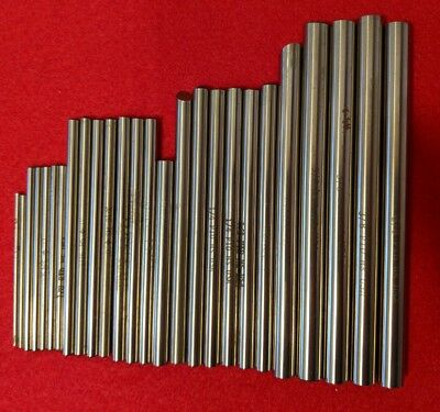 "LOT OF 26 ASSORTED HS REAMER BLANKS 3/8"" TO 13/64"" PTD DOALL Drill Cutters steel"